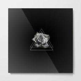 Rose Black and White Metal Print