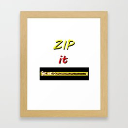 Zip it Black Yellow Red jGibney The MUSEUM Gifts Framed Art Print