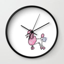 Farting Poodle Wall Clock