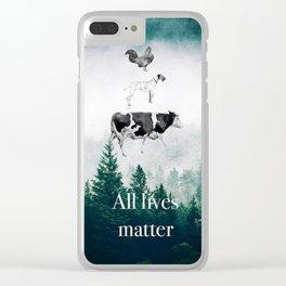 All lives matter go vegan Clear iPhone Case