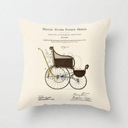 Stroller Patent Throw Pillow