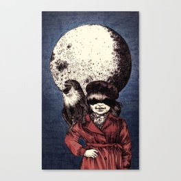 Posing on the moon Canvas Print
