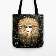 Golden Venice Carnival Mask  Tote Bag