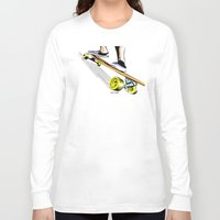 skate Long Sleeve T-shirts featuring skate by Cal ce tin