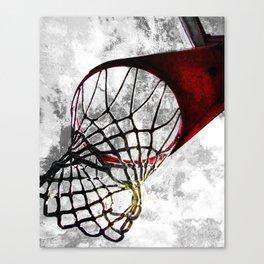 Basketball art swoosh vs 27 Canvas Print