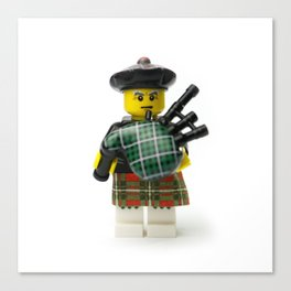 Scottish bagpipes Minifig Canvas Print