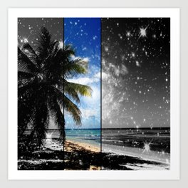 Caribbean Dreaming - digital artwork tribute to Isla Saona in the Dominican Republic Art Print