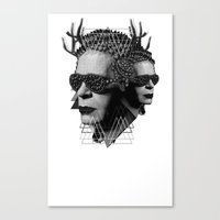 karl Canvas Prints featuring karl by DIVIDUS