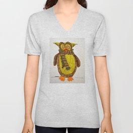 Owl in winter Unisex V-Neck