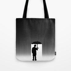 Charlie Chaplin Under The Rain Tote Bag