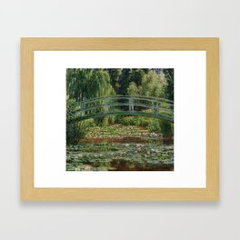 """Claude Monet """"The Japanese Footbridge and the Water Lily Pool, Giverny"""" Framed Art Print"""