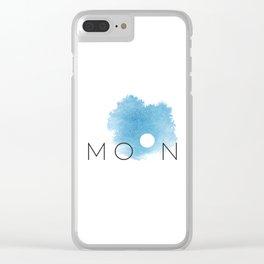 Full Moon Sky Clear iPhone Case