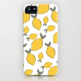Summer Lemon iPhone Case