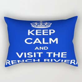 Keep Calm And Visit The French Riviera! Rectangular Pillow