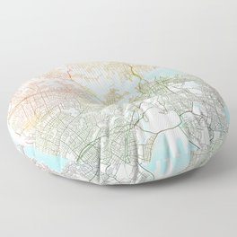 Sydney Map Art Watercolor by Zouzounio Art Floor Pillow