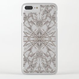 Snowflake Pink Clear iPhone Case