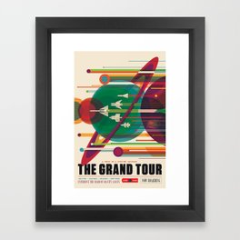 NASA Retro Space Travel Poster The Grand Tour Framed Art Print