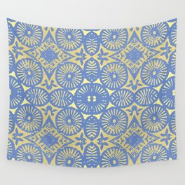 goldblue flowerpower 3 Wall Tapestry