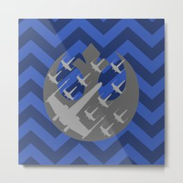 Wraith Squadron in Blue and Gray Metal Print