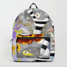 We gotta get away from here - Venzuela - BIRDS STRIPED TREE Backpack