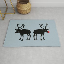 Angry Animals: Rudolph & Prancer Rug