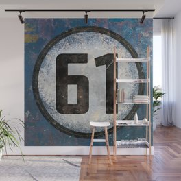 Vintage Auto Racing Number 61 Wall Mural