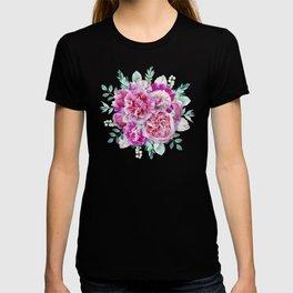 Beautiful soft pink peonies T-shirt