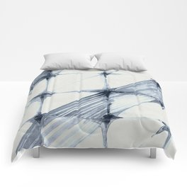Simply Wabi-sabi in Indigo Blue on Lunar Gray Comforters