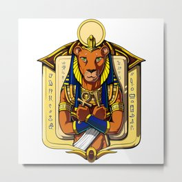 Sekhmet Egyptian Lioness Goddess Metal Print