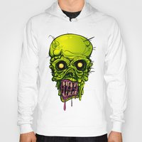 zombie Hoodies featuring Zombie by Lady Macabre Art