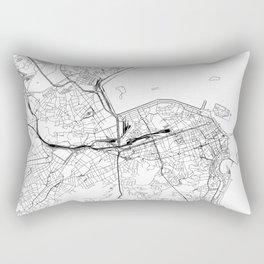 Rio De Janeiro White Map Rectangular Pillow
