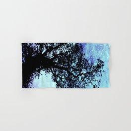 Black Trees Periwinkle Aqua Space Hand & Bath Towel