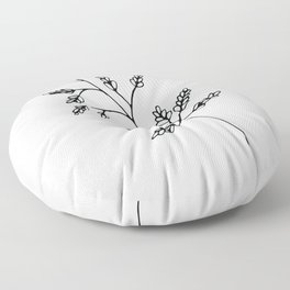 Branch White Floor Pillow