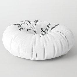 Branch White Floor Pillow