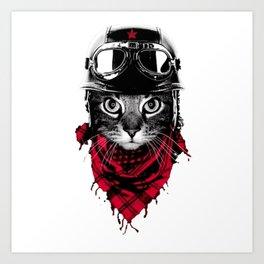 CAT---BIKER Art Print