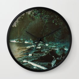 Surreal British Columbia Landscape Wall Clock