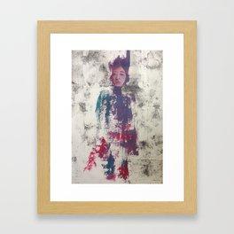 Alexa. Oil on Collagraph Print by Jain McKay. Framed Art Print