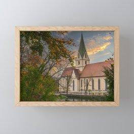Monastery church Blaubeueren Framed Mini Art Print