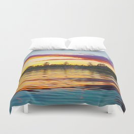 Up North Sunset Duvet Cover