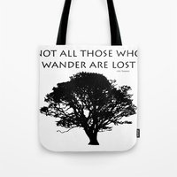 tolkien Tote Bags featuring Tolkien by Jayrosco