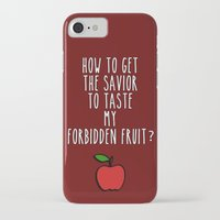swan queen iPhone & iPod Cases featuring Swan Queen - Forbidden Fruit by Sarah and Bree