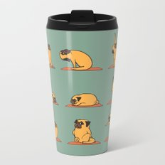 Pug Yoga Metal Travel Mug