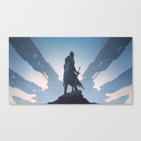 knight Canvas Prints featuring Knight by yurishwedoff