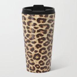 Leopard Print Metal Travel Mug