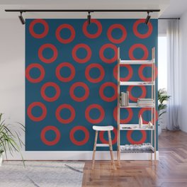 Fishman Donuts Red and Blue Wall Mural