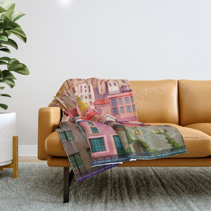 a city Throw Blanket