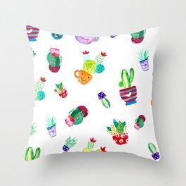cute cactus Throw Pillow