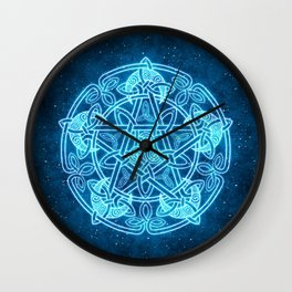 Celtic Moon Celestial Pentacle Wall Clock