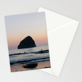 Sunset Surfers - Oregon Coast Stationery Cards