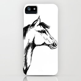 'Another Horse Profile' by Ave Hurley iPhone Case